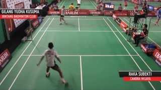Gambar cover Raka Subekti (PB Chandra Wijaya) VS Gilang Yudha Kusuma (Bintang Badminton Club)