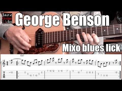 George Benson jazz guitar lick | Mixoblues scale | Lesson with tab