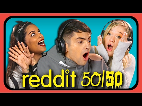 Thumbnail: YOUTUBERS REACT TO REDDIT 50/50 Challenge