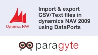How to import & export CSV/Text files in dynamics NAV 2009 using NAV object Dataport?