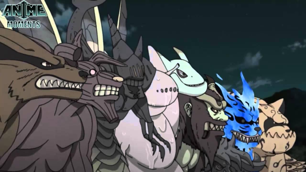 0 Tails Naruto ten tails vs nine tailed beasts - naruto shippuuden