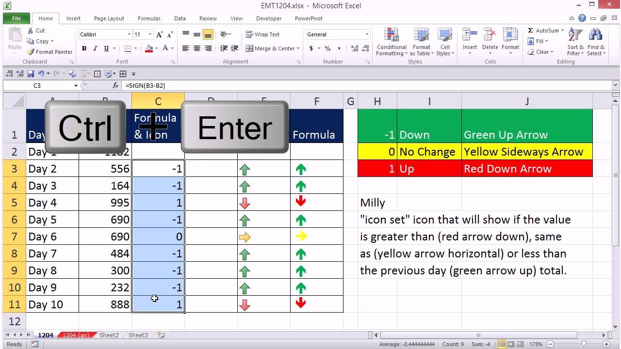 Excel Magic Trick 1204 Conditional Formatting For Days Change Up