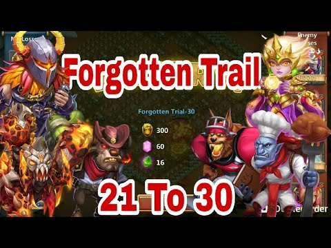Forgotten Trial - 21 To 30 | Try This Set Up If You Are Suffering In Any Level | Castle Clash
