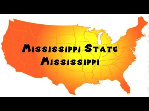 How to Say or Pronounce USA Cities — Mississippi State, Mississippi