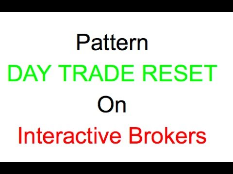 Pattern Day Trade Reset On Interactive Brokers Youtube