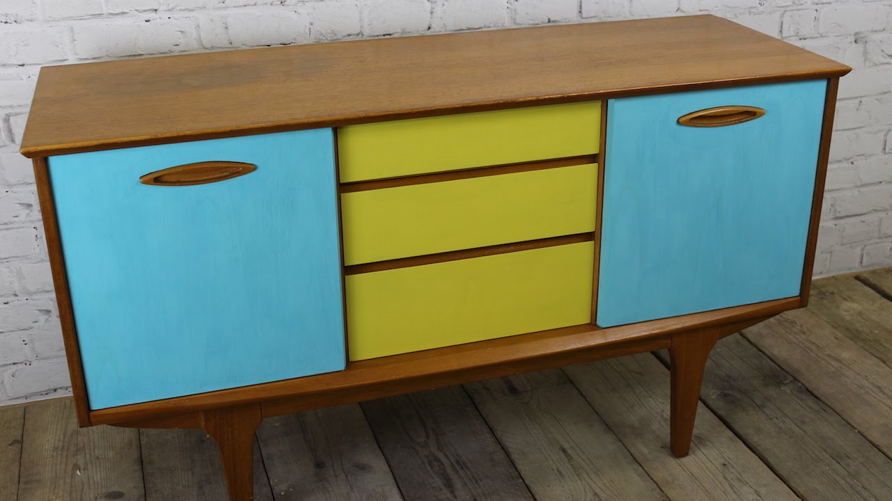 Vintage Kitchen Sideboard How I Upcycled Painted A Retro Sideboard Using Chalk Paint