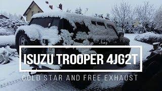 Isuzu Trooper 3.1D 4JG2 Diesel   Zimny Start Wolny Wydech   Cold Start Free Exhaust   KinT 04A