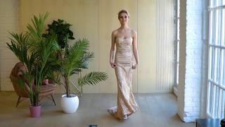 Вечернее платье со шлейфом Versailles Gold
