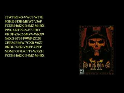 free diablo 2 cd key 26 characters