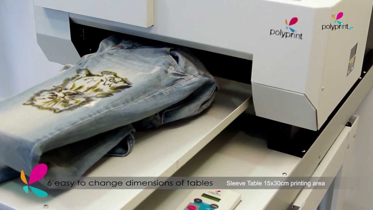 PolyprintTexjetPLUS Direct to Garment digital printer - YouTube