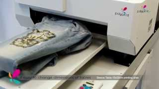 Repeat youtube video PolyprintTexjetPLUS Direct to Garment digital printer