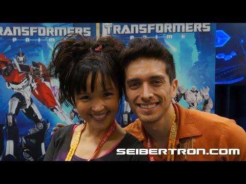 Seibertron.com interviews Transformers Prime's Jack and Miko SDCC 2012