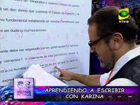 'Haprendiendo a Escrivir' con Karina Beteta (Enemigos íntimos 2009)