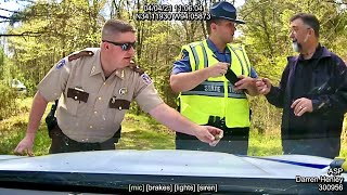 POLICE CHIEF ARRESTED BY STATE POLICE