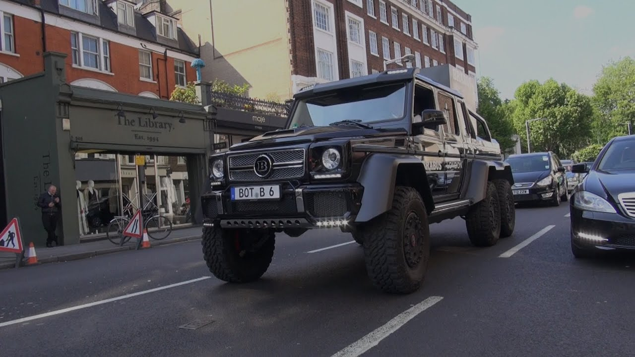 BRABUS 6X6 G-WAGON V SKINNY TYRES ! 6 WHEELED MONSTER IN ...