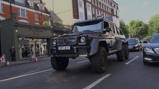 BRABUS 6X6 G-WAGON V SKINNY TYRES ! 6 WHEELED MONSTER IN LONDON