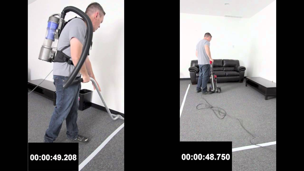 bagless backpack vacuum vs standard upright which is faster youtube - Backpack Vacuum