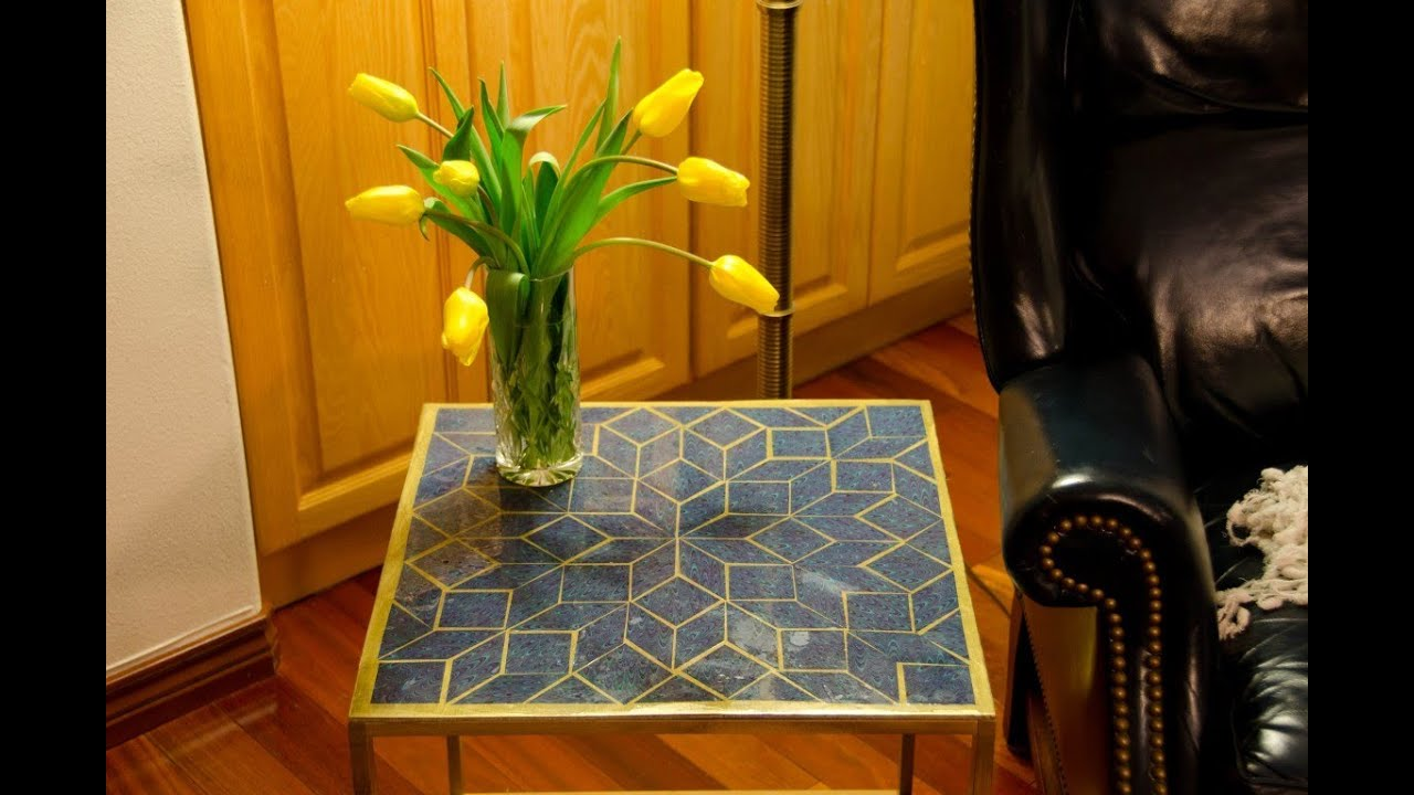 Diy how to build a mosaic epoxy tabletop for under 52 youtube solutioingenieria Gallery