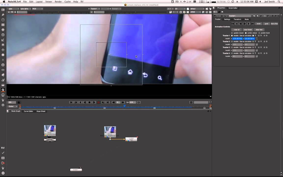 Nuke Screen Replacement Tutorial Part 1: Tracking The Screen
