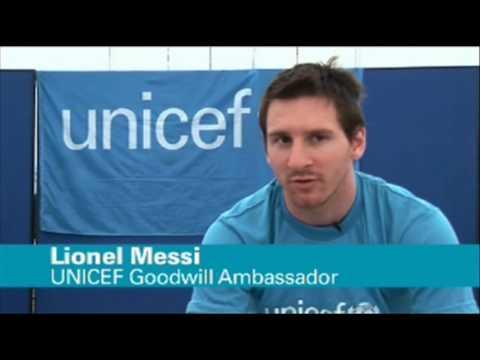 Lionel Messi visits Haiti as Unicef ambassador