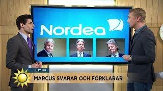 Massiv kritik mot Nordea - Marcus Oscarsson svarar och förklarar - Nyhetsmorgon (TV4)