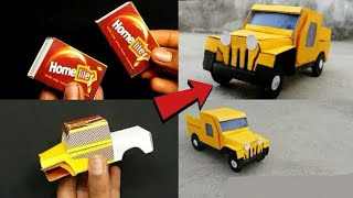 How to make match box car | toy car made at home | mini car