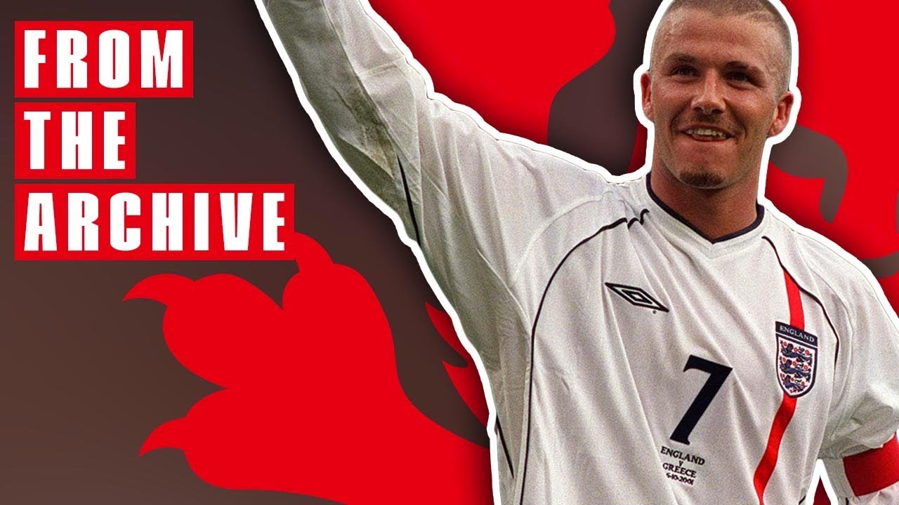David Beckham V Greece 2001 From The Archive
