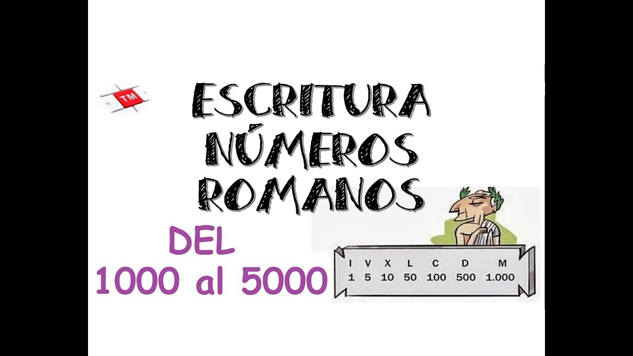 Números Romanos 1000 Al 5000 Youtube