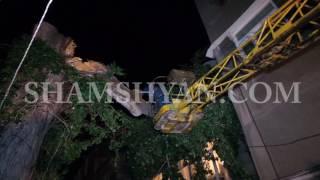 Արտակարգ դեպք Երևանում  քամու հետևանքով բարդին կոտրվել և ընկել է 3 րդ հարկի պատշգամբի վրա