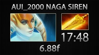 Dota 2 Naga Siren Fast Farm - Aui_2000 - Radiance - 17:48 [6.88f]