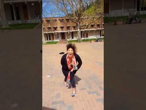 SJW art major's autistic screeching over Trump (Western Washington University)
