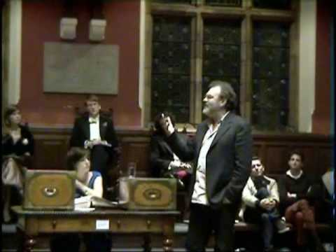 Matthew Collings at the Oxford Union part 1/2