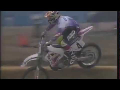"#4 Damon ""The beast from the East"" Bradshaw Seattle Supercross 1992"