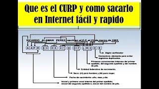 Que es el CURP y como sacarlo en internet fácil y rápido 2017 - link en la descripcion