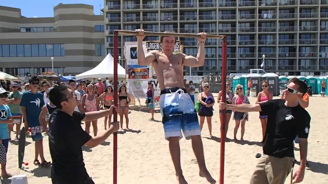 i do 33 pull ups at the marine corps pull up challenge at ecsc 2014