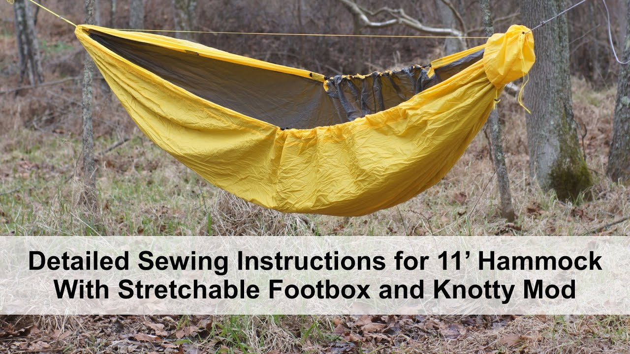 Detailed Sewing Instructions For Diy Hammock With Stretchable