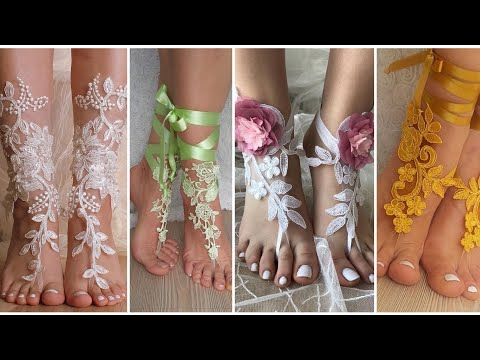 lace-barefoot-sandals-||-beach-wedding-lace-shoes-||-beaded-barefoot-shoes-||
