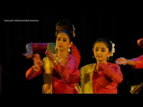 Nrityanjali Traditional Kathak Institution || Varshaki Utsav 2017 || 1st year batch performance