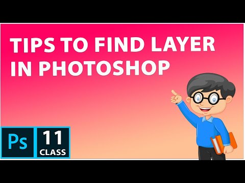 Easy way to Find Layer  in PhotoShop CC 2019 | PhotoShop tutorial for beginner thumbnail