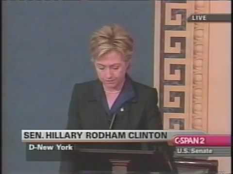 Hillary CLINTON Iraq War Speech 2002 Part 2