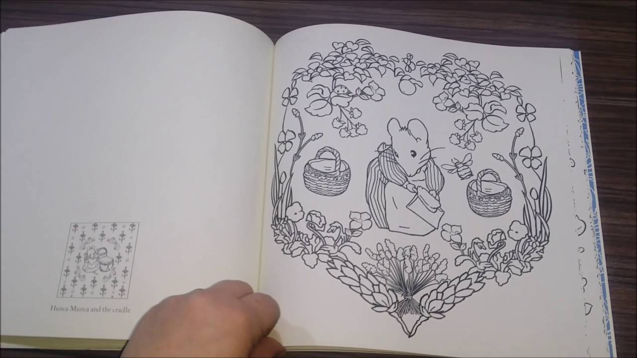beatrix potter coloring book flip through creative coloring