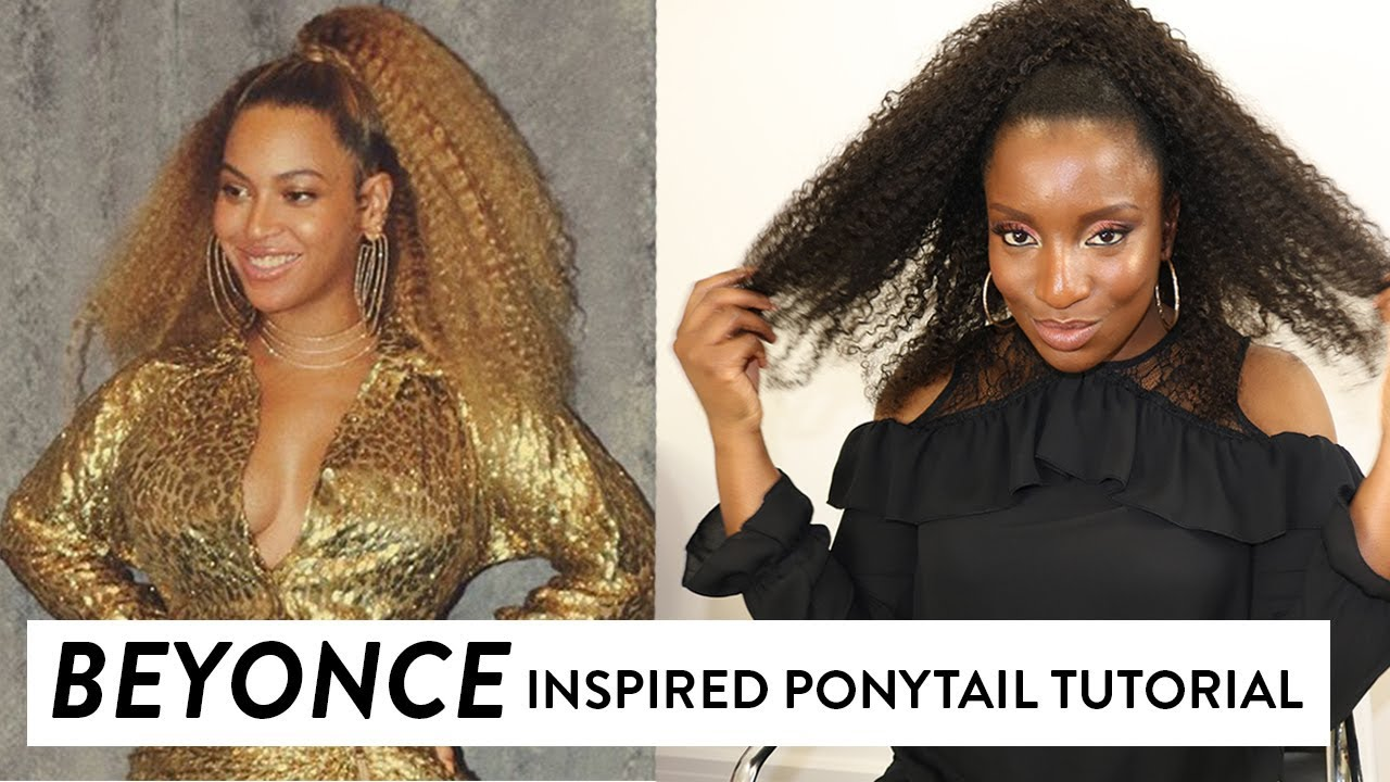 beyonce inspired ponytail tutorial | all shades covered