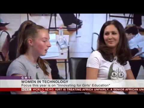 BBC World News talk about Little Miss Geek Tech Clubs