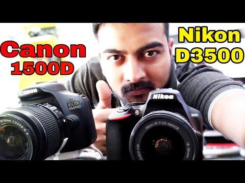 NIKON D3500 Vs CANON 1500D Full Comparison! Latest Price 2019!