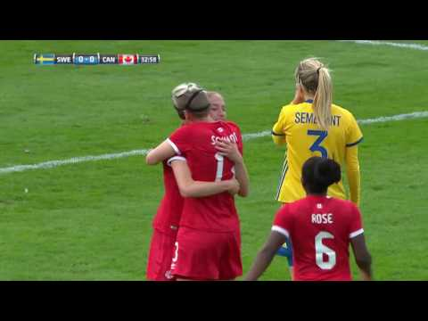 Highlights from Canada Soccer's Women's National Team 1:0 Sweden 6 April 2017