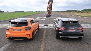 DRAG RACE! AUDI RS3 VS MERCEDES A45 AMG!