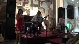 Điệp khúc mùa xuân- Kiều Ngân, guitar: Bá Phúc, cajon: Tri Tâm