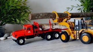 Видео про рабочие машины для детей. Лесовоз - новая машина
