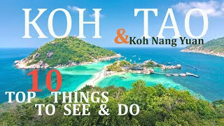 BEAUTIFUL KOH TAO THAILAND: TOP 10 THINGS TO DO 2020 4K