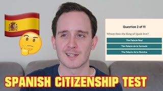 BRITISH GUY ANSWERS QUESTIONS FROM SPANISH CITIZENSHIP TEST